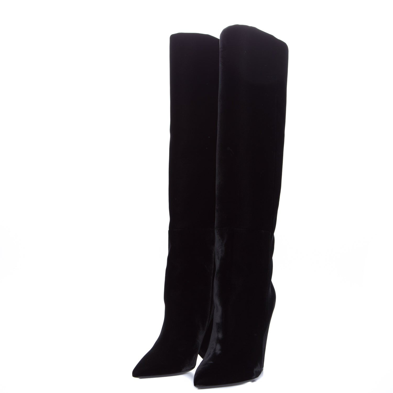 2b928f2c012f COM Yves Saint Laurent Niki Wedge Boot In Velvet-YVES SAINT LAURENT -SHOPATVOI.COM