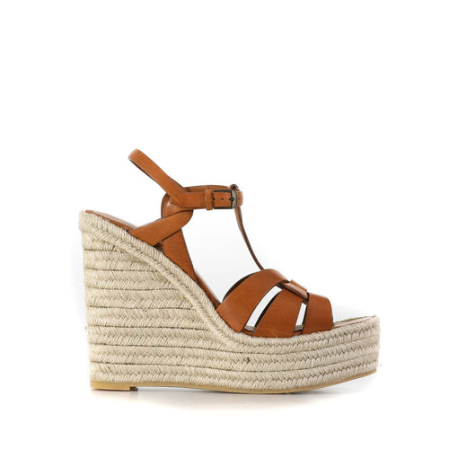 Yves Saint Laurent Leather Espadrillas Wedges-YVES SAINT LAURENT-SHOPATVOI.COM - Luxury Fashion Designer