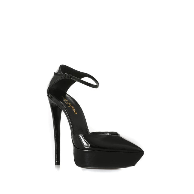 Yves Saint Laurent Anja D'Orsay Leather Pumps-YVES SAINT LAURENT-SHOPATVOI.COM - Luxury Fashion Designer