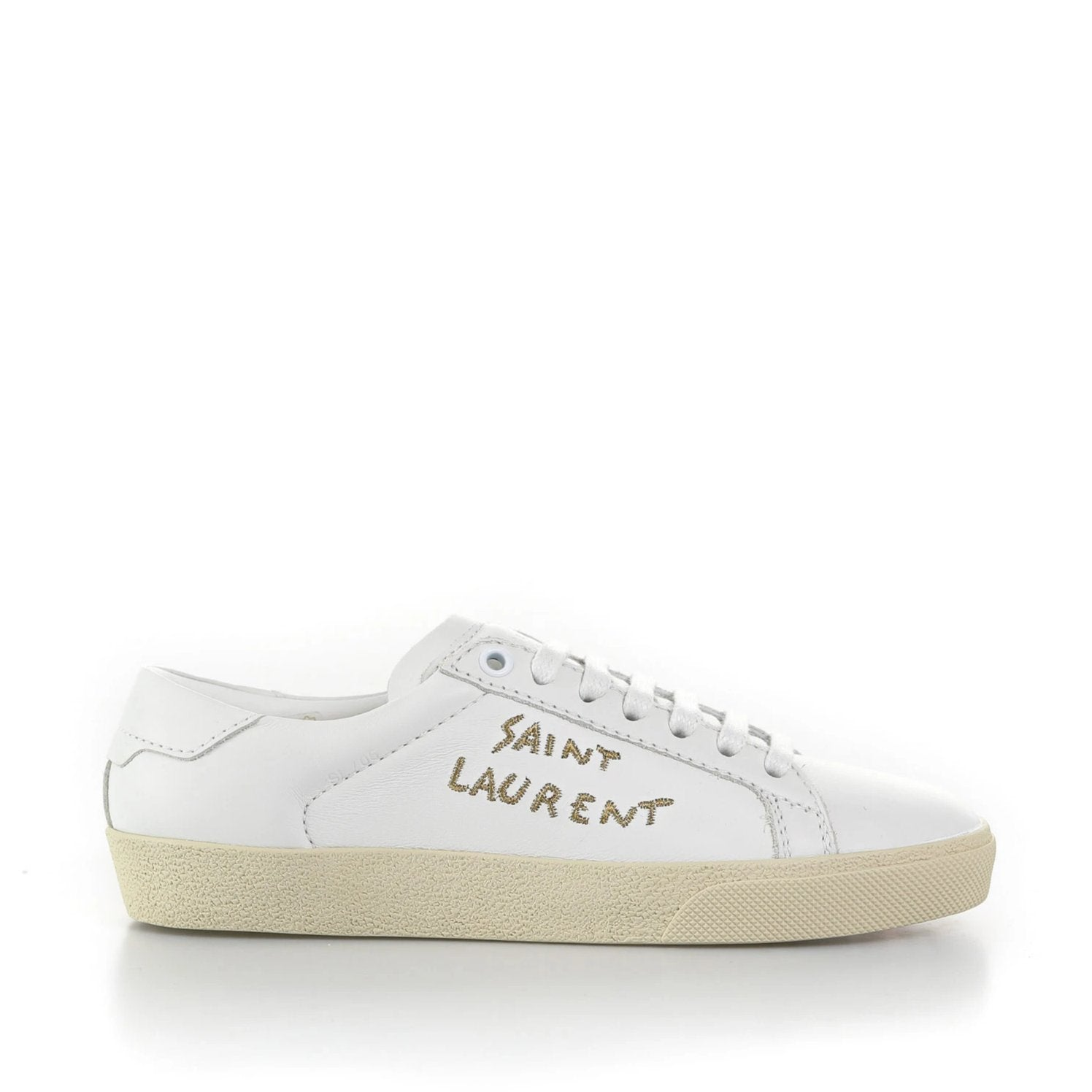 Yves Saint Laurent Court Classic Leather Sneakers-YVES SAINT LAURENT-SHOPATVOI.COM - Luxury Fashion Designer