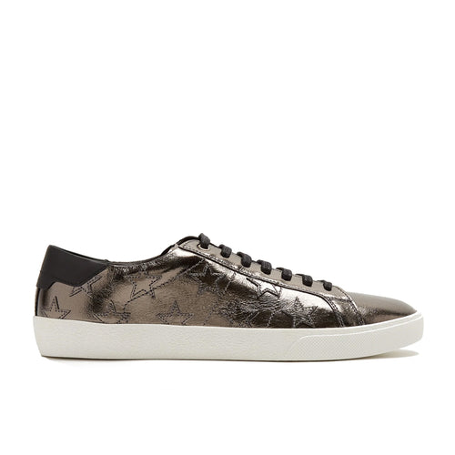 Saint Laurent Metallic Leather Star Sneakers