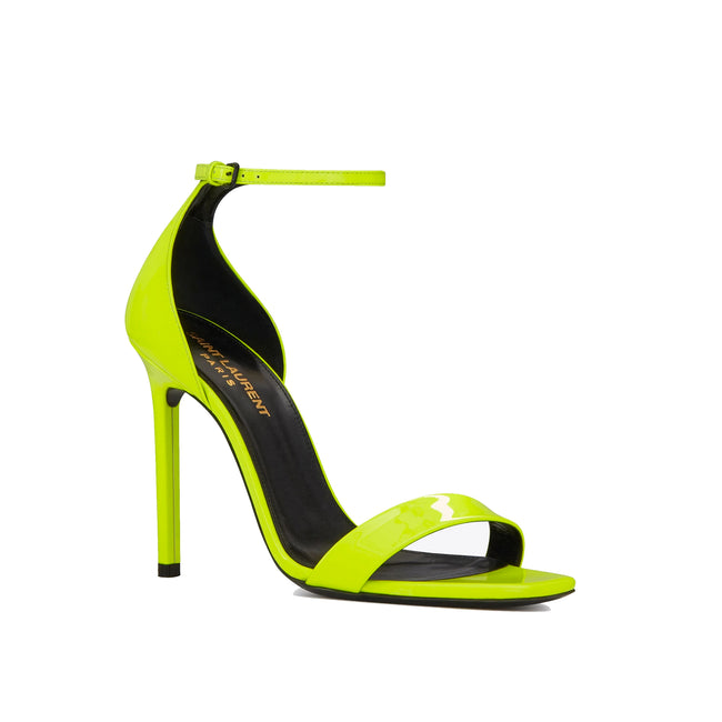 Yves Saint Laurent Amber Patent Leather Sandals-YVES SAINT LAURENT-SHOPATVOI.COM - Luxury Fashion Designer