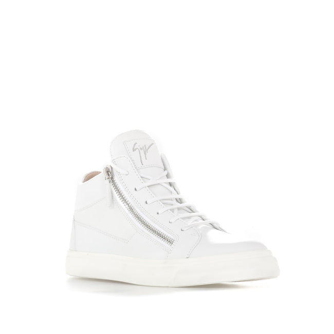 Giuseppe Zanotti Design High Top Leather Sneakers-GIUSEPPE ZANOTTI DESIGN-SHOPATVOI.COM - Luxury Fashion Designer