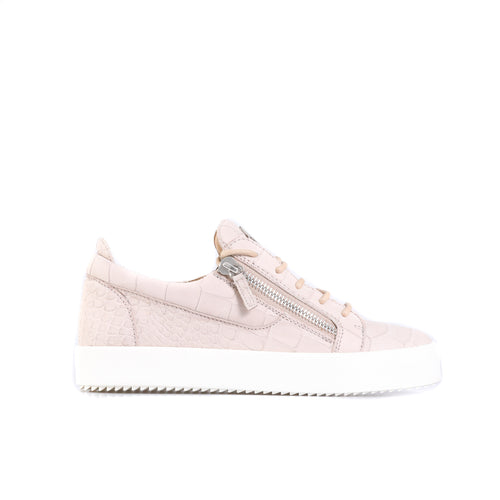 Giuseppe Zanotti Design Croc Embossed Leather Sneakers