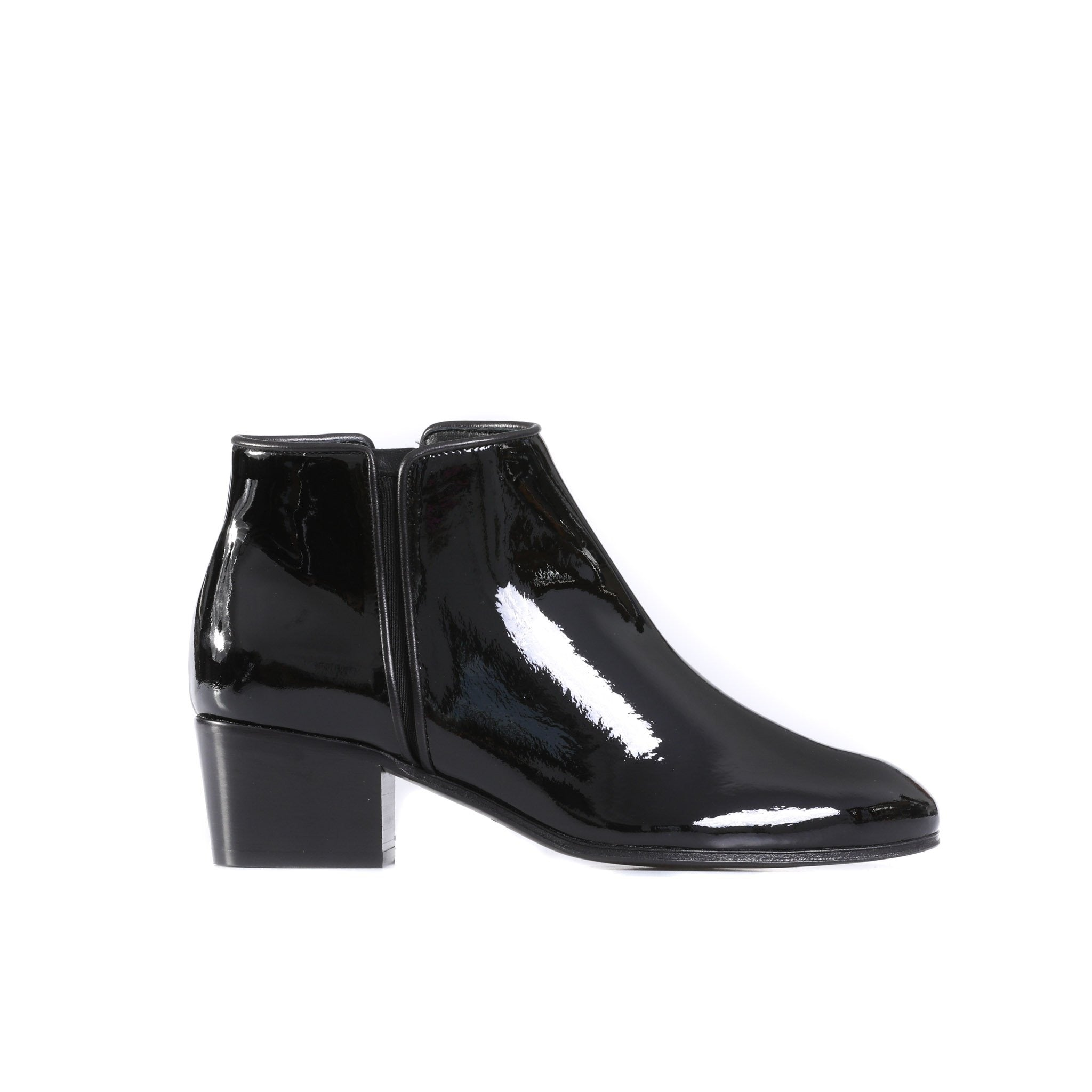 Giuseppe Zanotti Design Patent Leather Ankle Boots