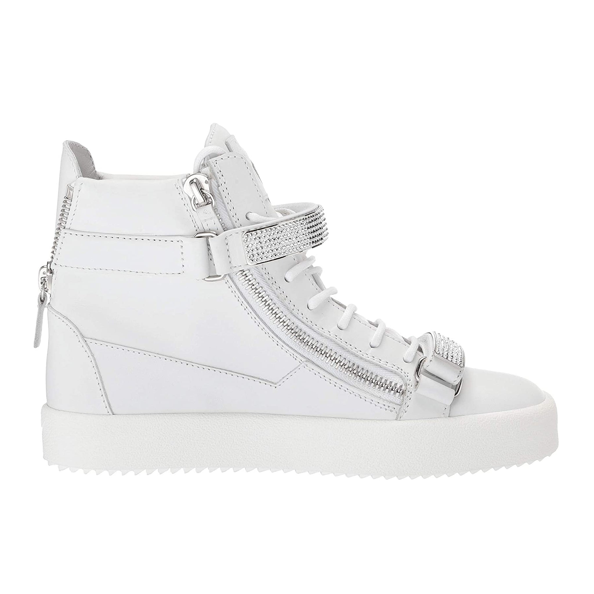Giuseppe Zanotti Design Coby Crystal Leather Sneakers