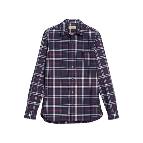 Burberry Checked Slim-Fit Cotton Shirt