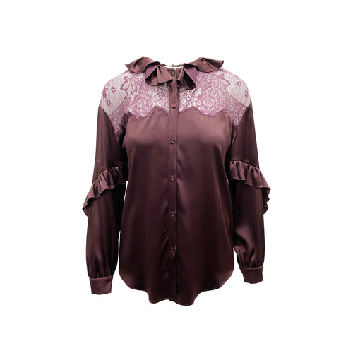 Blumarine Lace Trim Shirt