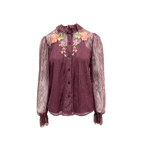 Blumarine Lace Embroidered Shirt