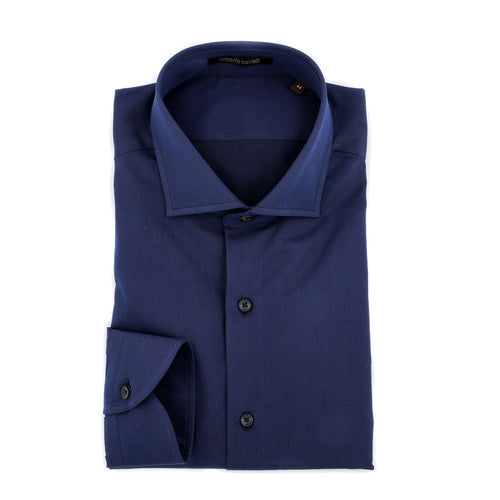 Roberto Cavalli Twill Cotton Shirt