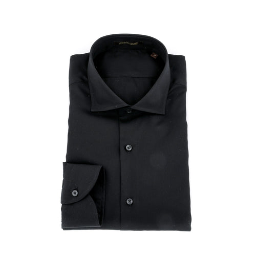 Roberto Cavalli Ptinted Cotton Poplin Shirt