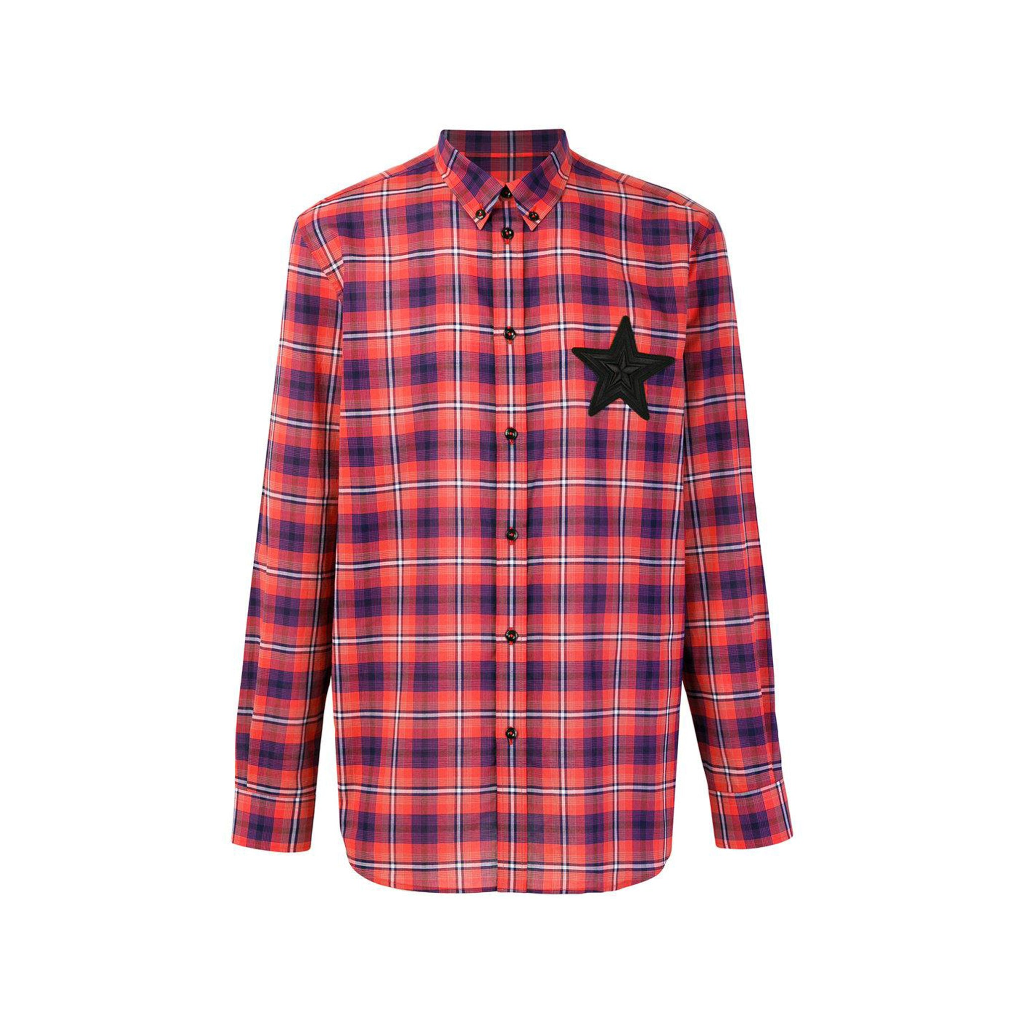 Givenchy Plaid Flannel Shirt