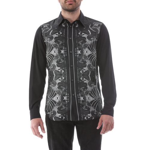 Just Cavalli Printed Silk Shirt