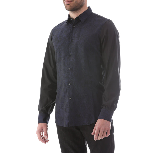 Just Cavalli Jacquard Cotton Blend Shirt