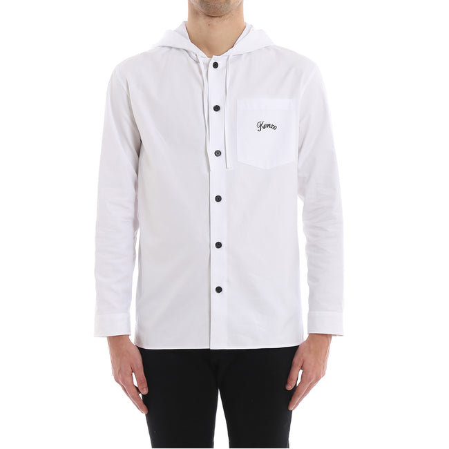 Kenzo Hooded Cotton Logo Shirt