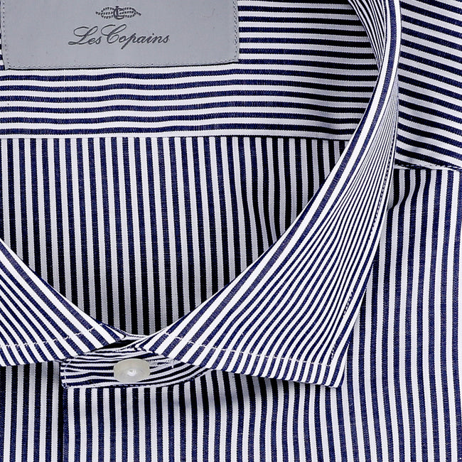 Les Copains Striped Cotton Poplin Shirt