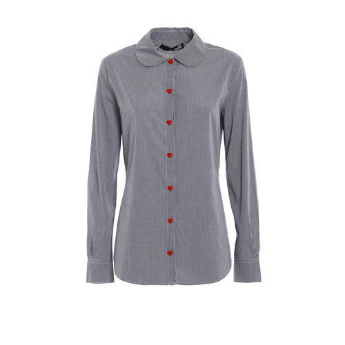 Love Moschino Vichy Cotton Shirt