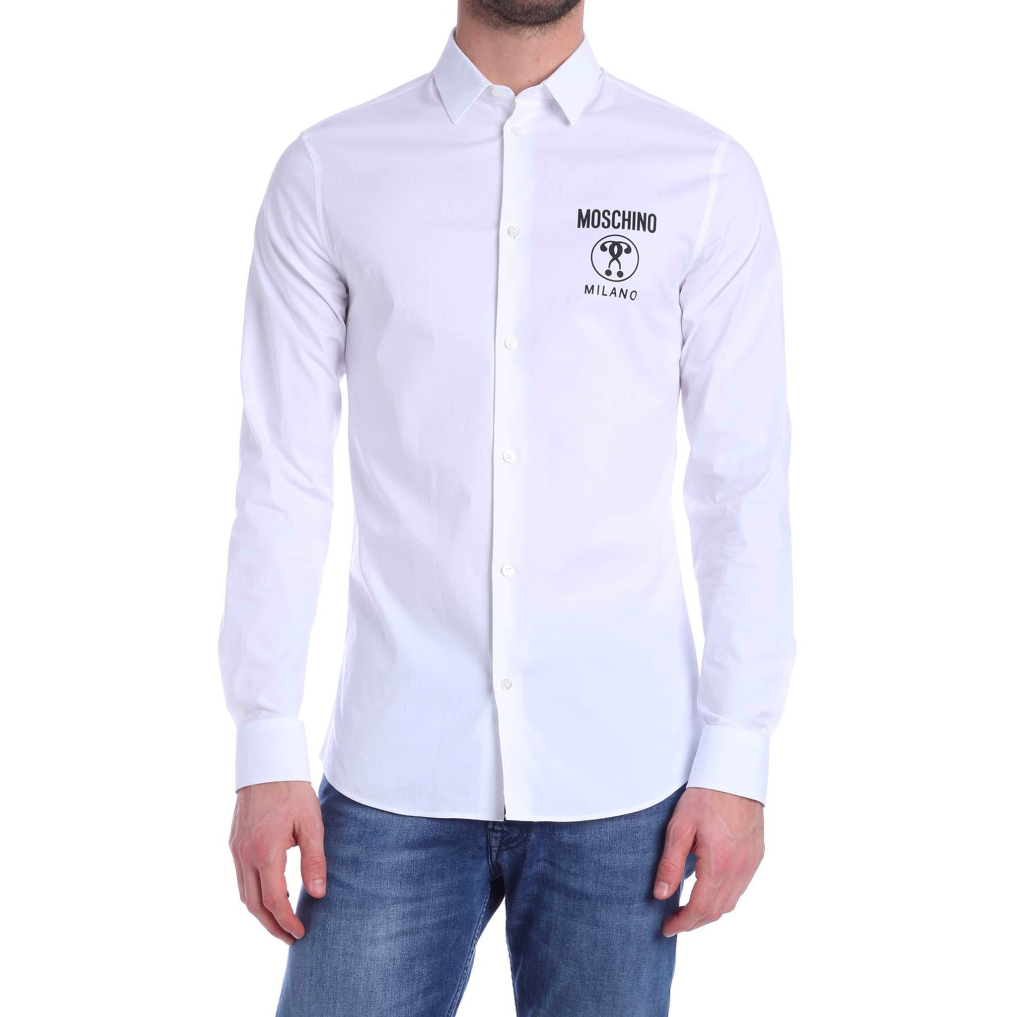 Moschino Logo Cotton Shirt