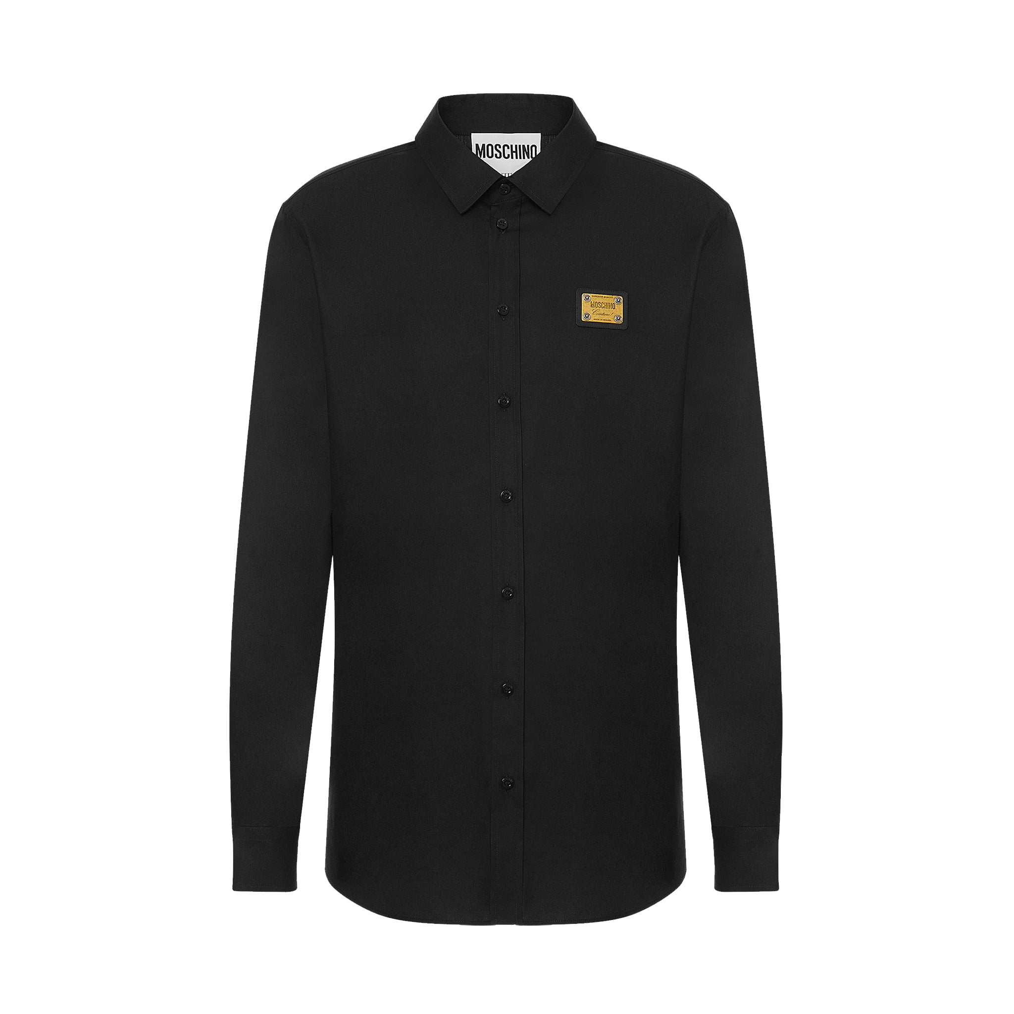 Moschino Logo Plaque Cotton Shirt