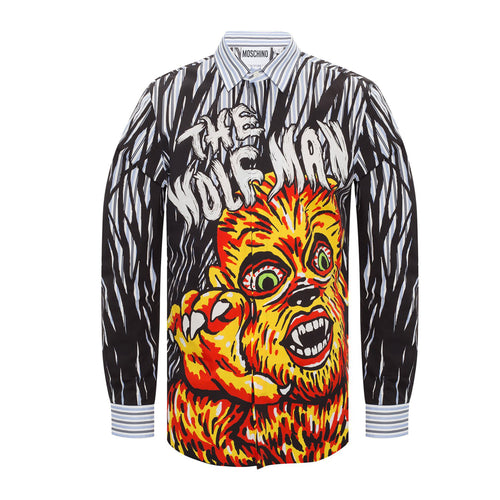 Moschino The Wolf Man Striped Shirt