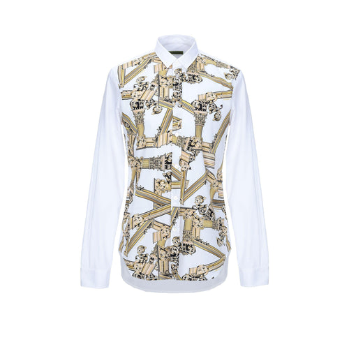 Versace Jeans Baroque Print Cotton Shirt