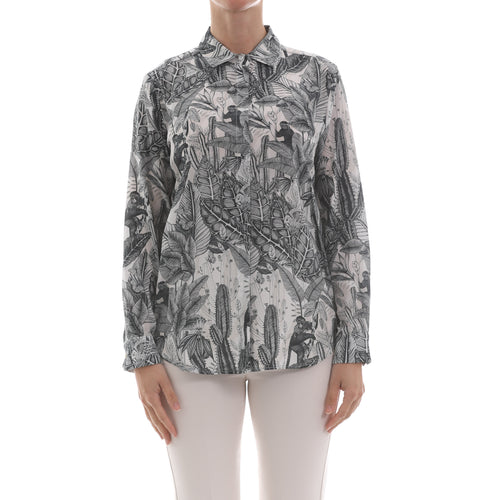 Max Mara Weekend Printed Silk Shirt-MAX MARA WEEKEND-SHOPATVOI.COM - Luxury Fashion Designer