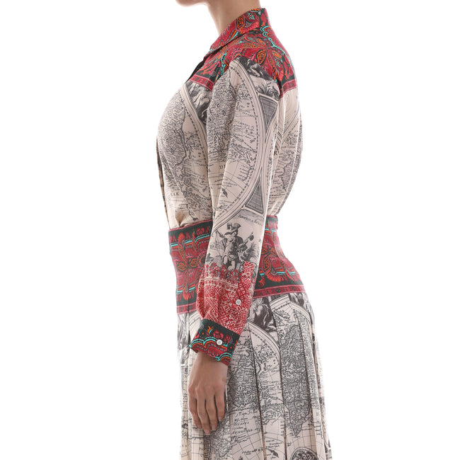 Max Mara Weekend Printed Silk Twill Shirt-MAX MARA WEEKEND-SHOPATVOI.COM - Luxury Fashion Designer