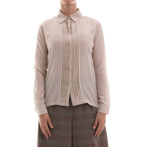 Max Mara Weekend Jersey And Silk Crêpe Shirt-MAX MARA WEEKEND-SHOPATVOI.COM - Luxury Fashion Designer