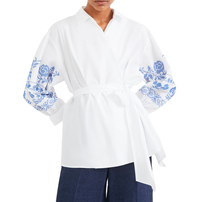 Max Mara Weekend Wraparound Cotton Shirt