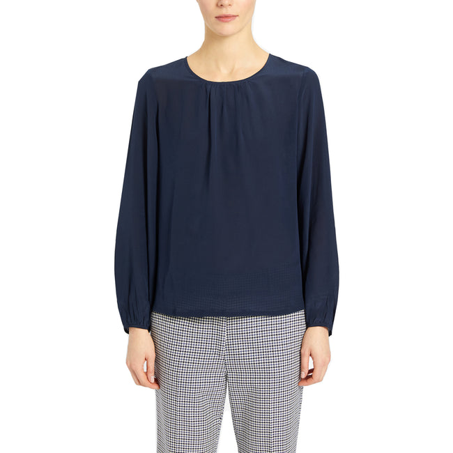 Max Mara Weekend Scalata Crepe De Chine Blouse