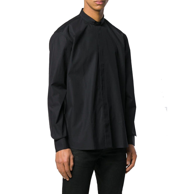 Saint Laurent Mandarin Collar Cotton Shirt