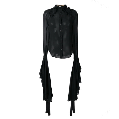 Yves Saint Laurent Silk Sheer Shirt
