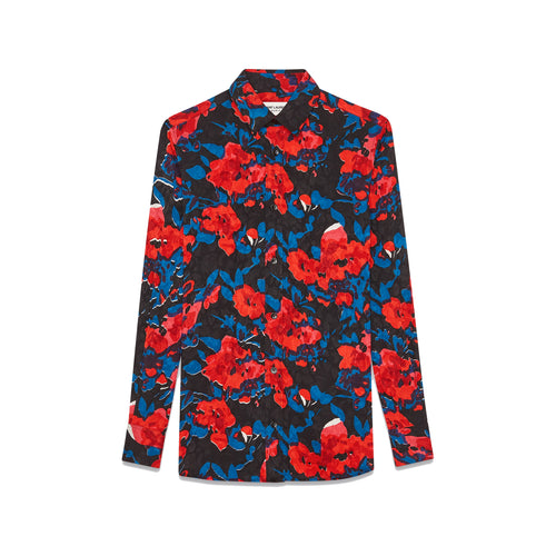 Yves Saint Laurent Printed Silk Blouse