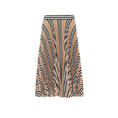 Burberry Icon Stripe Pleated Skirt