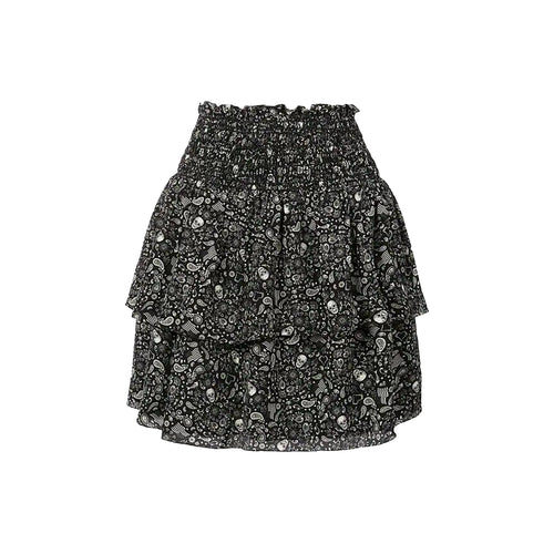Yves Saint Laurent Printed Ruffle Mini Skirt