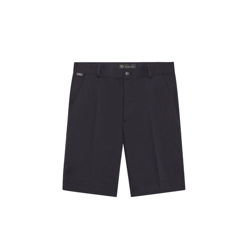 Versace Logo Cotton Shorts