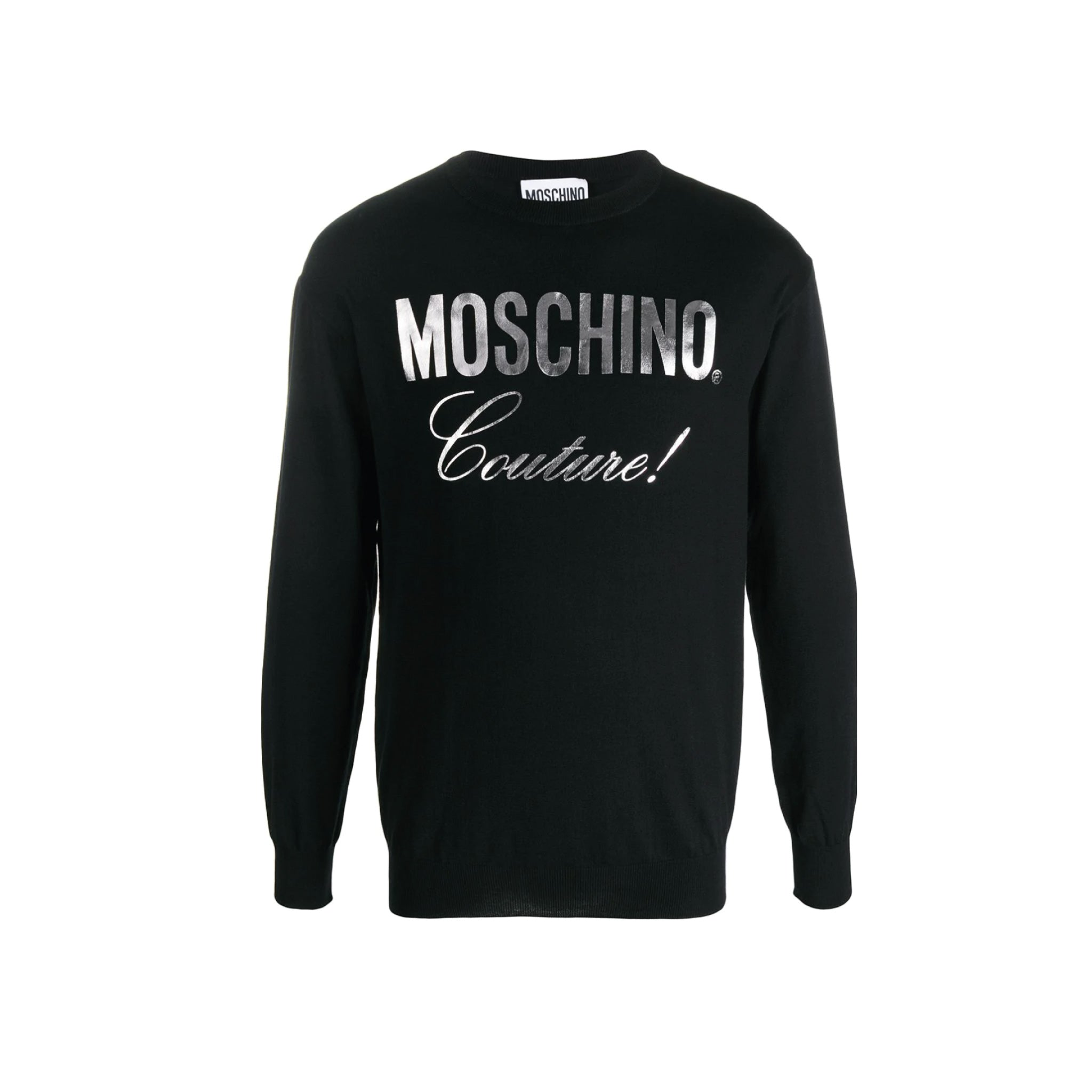 Moschino Couture Metallic Logo Jumper