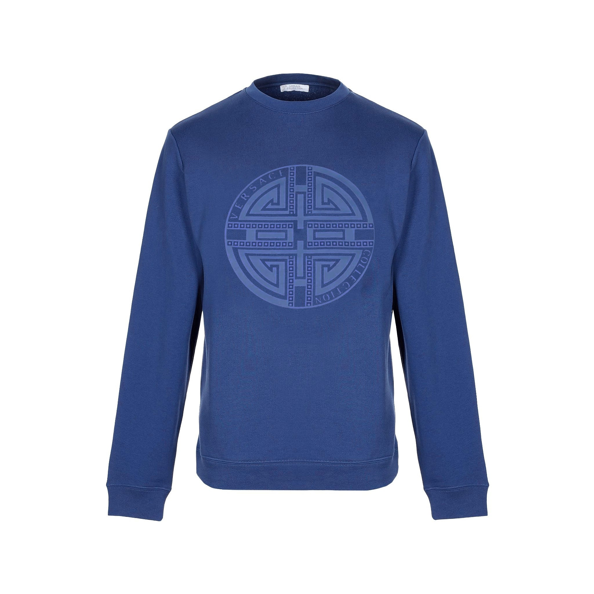 Versace Collection Circle Logo Cotton Sweatshirt