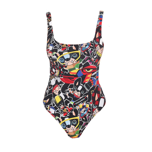 Dsquared2 All-Over Print Swimsuit