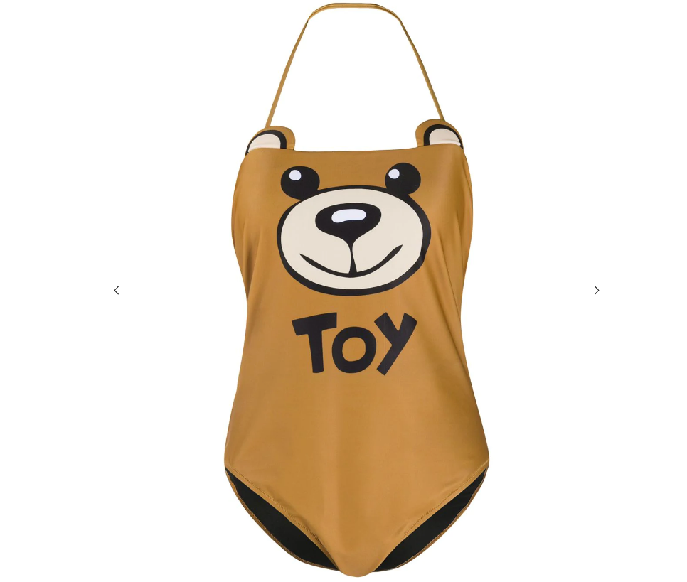 Moschino Swim Teddy Toy One-Piece Swimsuit