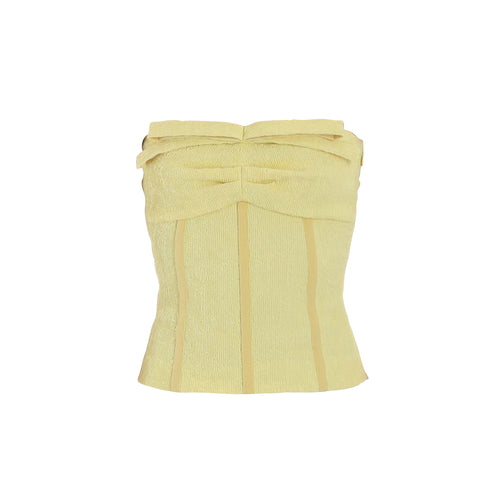 Boutique Moschino Romantic Bustier Crop Top