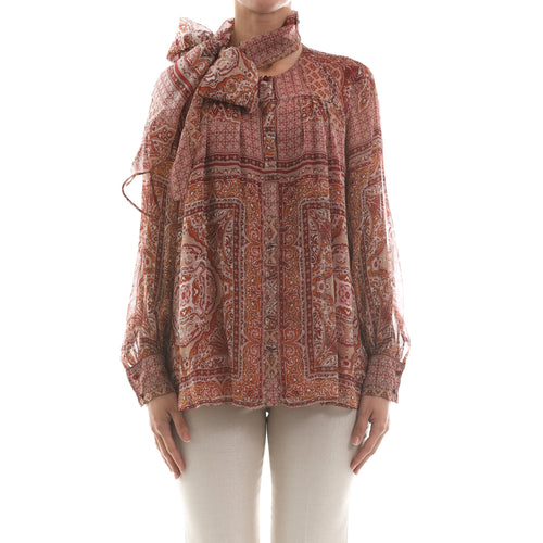 Max Mara Studio Printed Chiffon Blouse-MAX MARA STUDIO-SHOPATVOI.COM - Luxury Fashion Designer