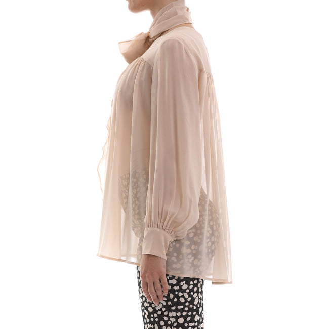 Max Mara Studio Washed Silk Georgette Blouse-MAX MARA STUDIO-SHOPATVOI.COM - Luxury Fashion Designer