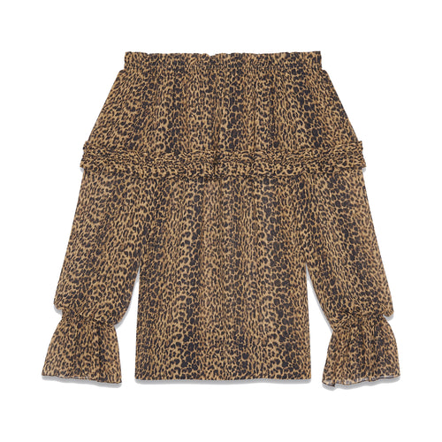 Yves Saint Laurent Leopard Print Gypsy Blouse