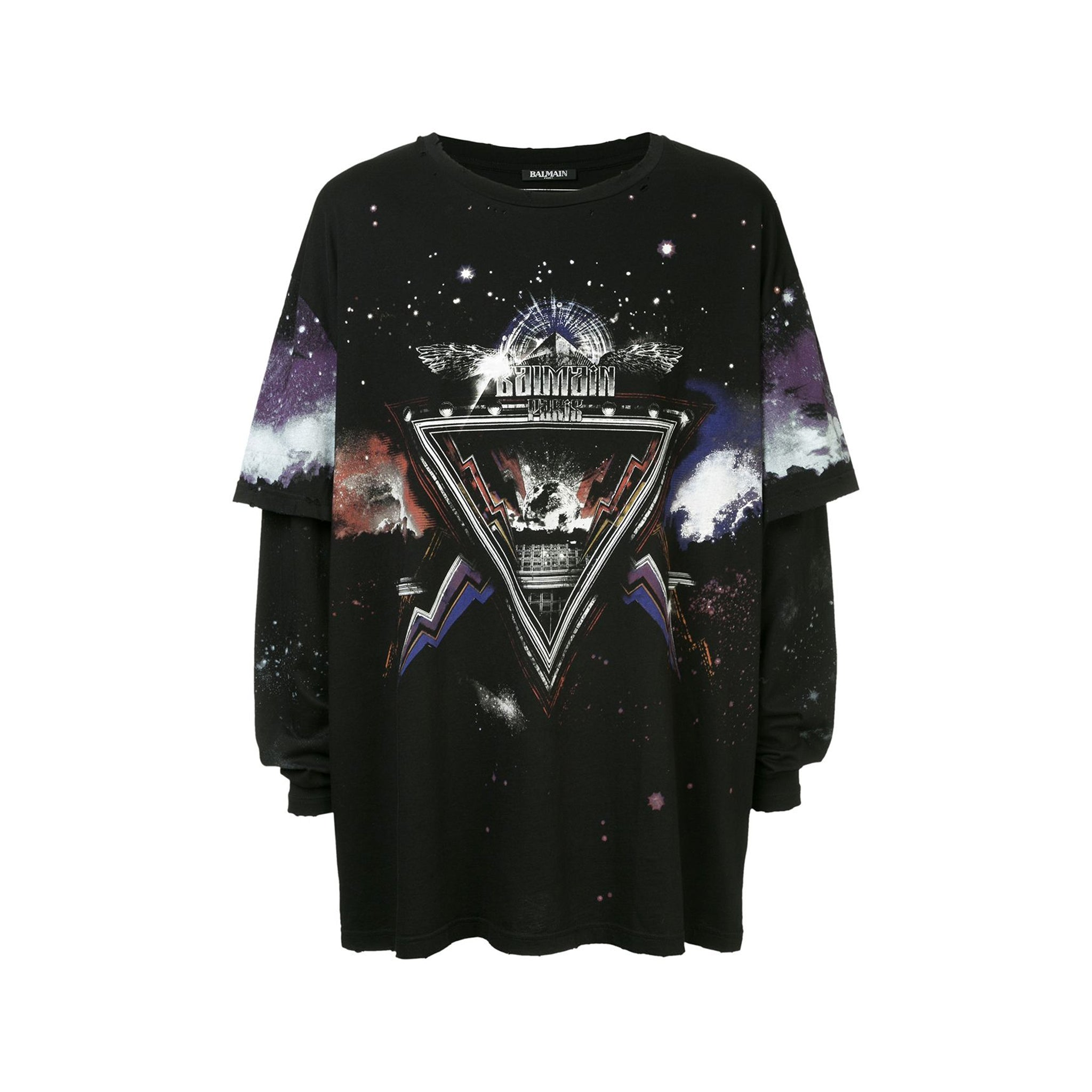 Balmain Distressed Space T-Shirt