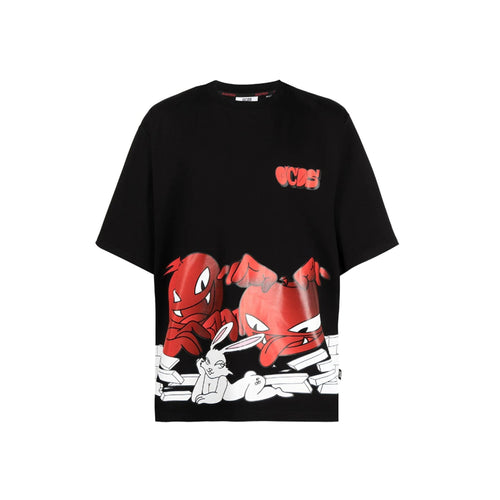 Gcds Cartoon Print Logo T-Shirt