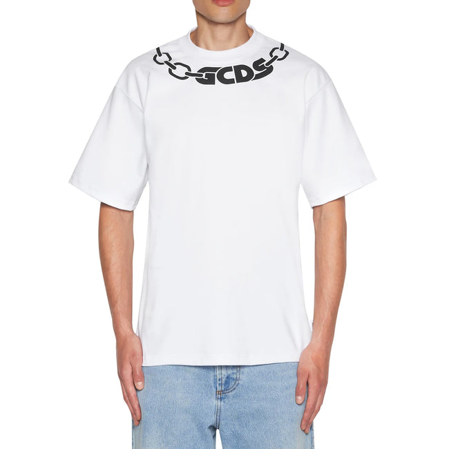 Gcds Chain Print Cotton T-Shirt