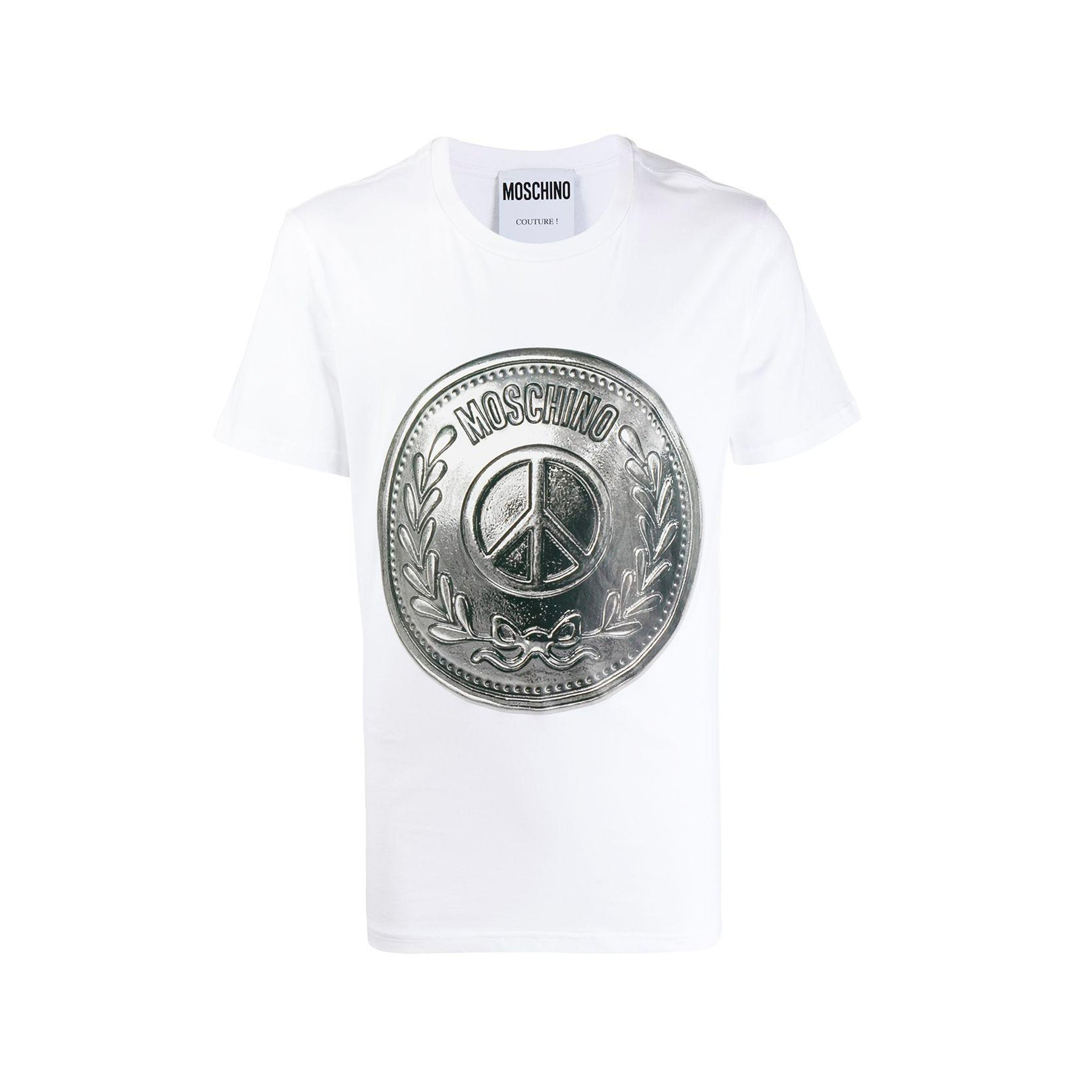 Moschino Medal Logo Cotton T-Shirt