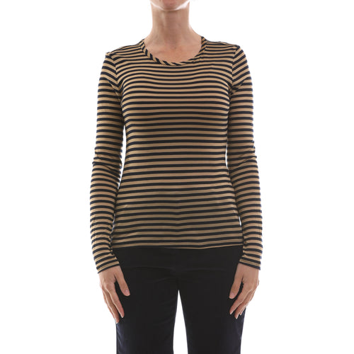 Max Mara Studio Striped Jersey Top-MAX MARA STUDIO-SHOPATVOI.COM - Luxury Fashion Designer