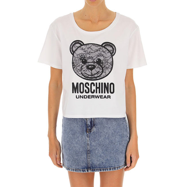 Moschino Underwear Lace Bear Logo T-Shirt